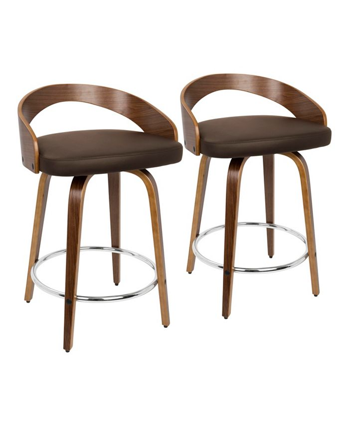 """Lumisource - Grotto 24"""" Counter Stool, Quick Ship (Set of 2)"""