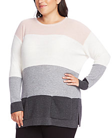 Vince Camuto Plus Size Colorblocked Sweater
