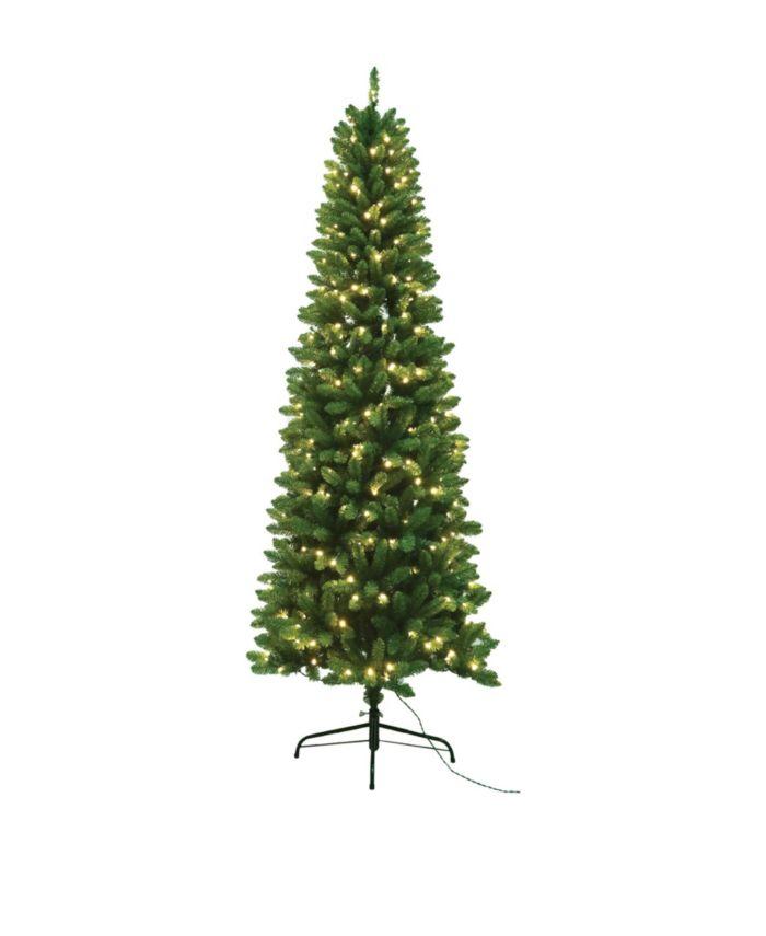 Santa's Workshop 7.5' Slim Tree with UL Lights & Reviews - Holiday Shop - Home - Macy's
