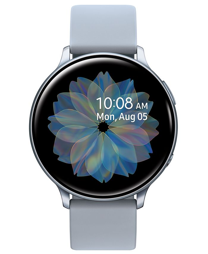 Samsung - Unisex Galaxy Active 2 Gray Silicone Strap Touchscreen Smart Watch 44mm