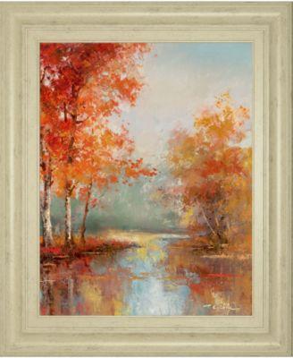 "Autumns Grace II by T.C Chiu Framed Print Wall Art - 22"" x 26"""