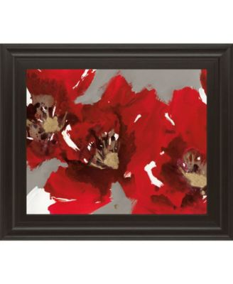 "Red Poppy Forest I by N. Barnes Framed Print Wall Art - 22"" x 26"""
