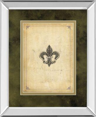 "Fleur Di Lies I by Alexey Paviuts Mirror Framed Print Wall Art - 34"" x 40"""