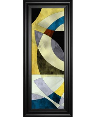 "Elliptic Path III by James Burghardt Framed Print Wall Art - 18"" x 42"""