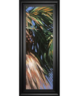 "Wild Palm Il by Suzanne Wilkins Framed Print Wall Art - 18"" x 42"""