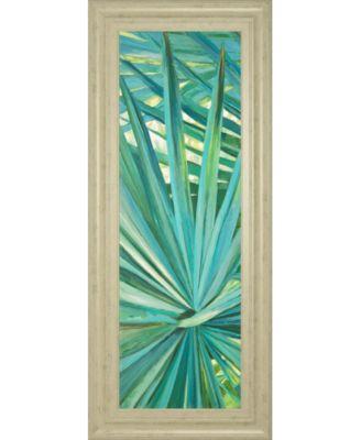 """Fan Palm I by Suzanne Wilkins Framed Print Wall Art - 18"""" x 42"""""""
