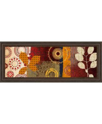 "Fall Leaf Panel I by Michael Marcon Framed Print Wall Art - 18"" x 42"""