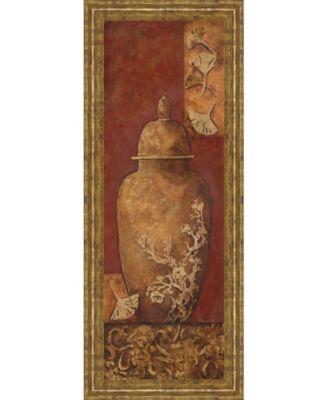 "Asian Nuvo I by Angela Ferrante Print in Framed Print Wall Art - 18"" x 42"""