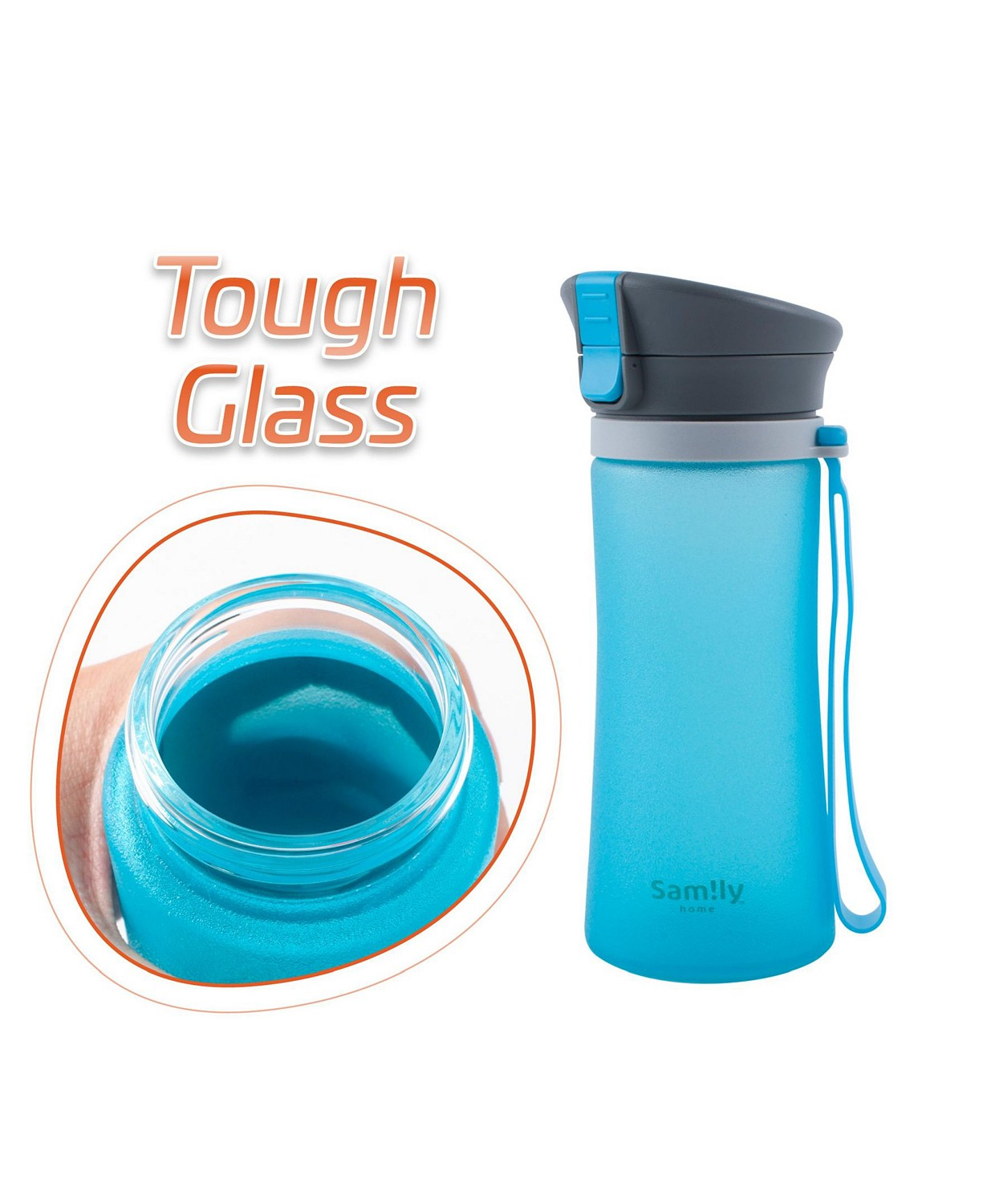 (30% OFF Deal) 13 Oz Flip-Top Silicone Coated BPA-Free Glass Sports Bottle $27.99