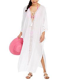 Raviya Crochet-Trimmed Cover-Up Maxi Dress