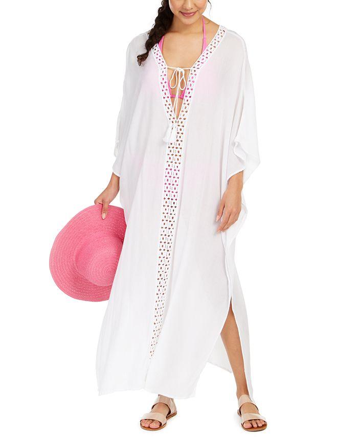 Raviya - Crochet-Trimmed Cover-Up Maxi Dress
