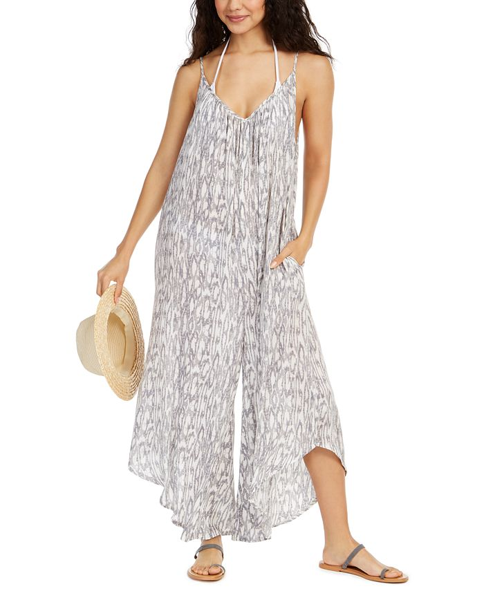 J Valdi - Printed Flowy Cover-Up Jumpsuit