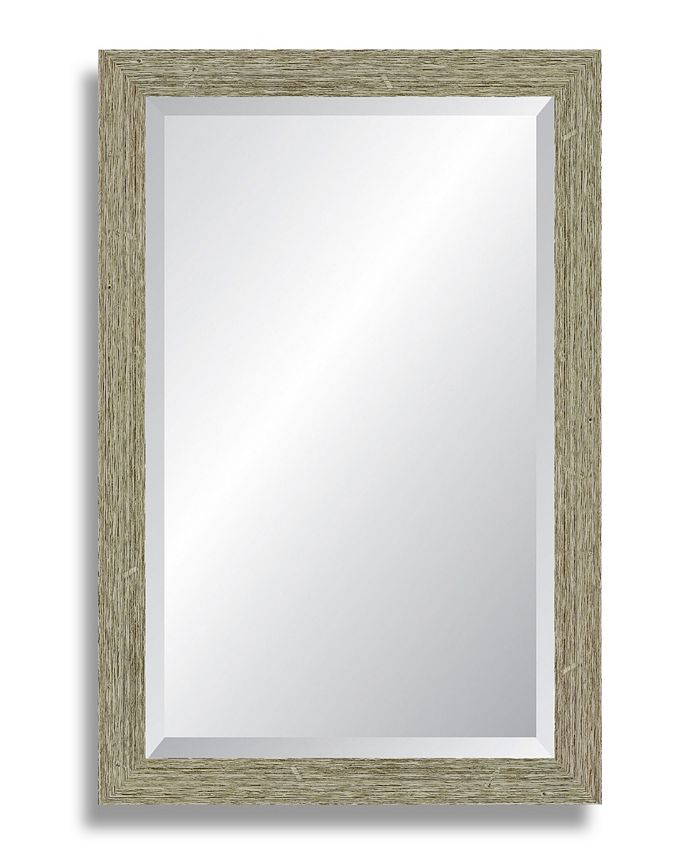 Reveal Frame & Décor - Barnwood Gray Beveled Wall Mirror
