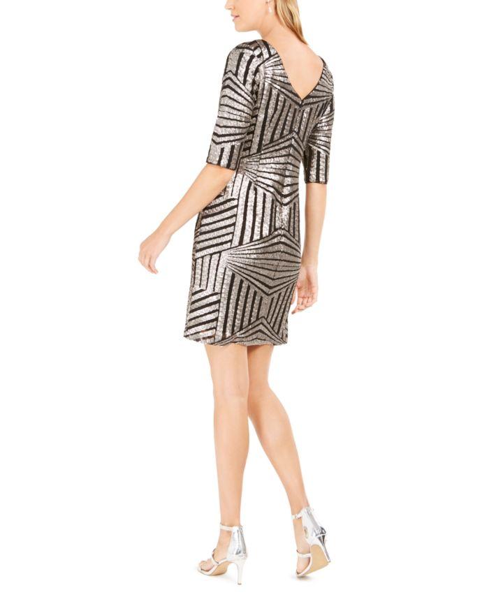 R & M Richards Geo-Sequin Sheath Dress & Reviews - Dresses - Women - Macy's