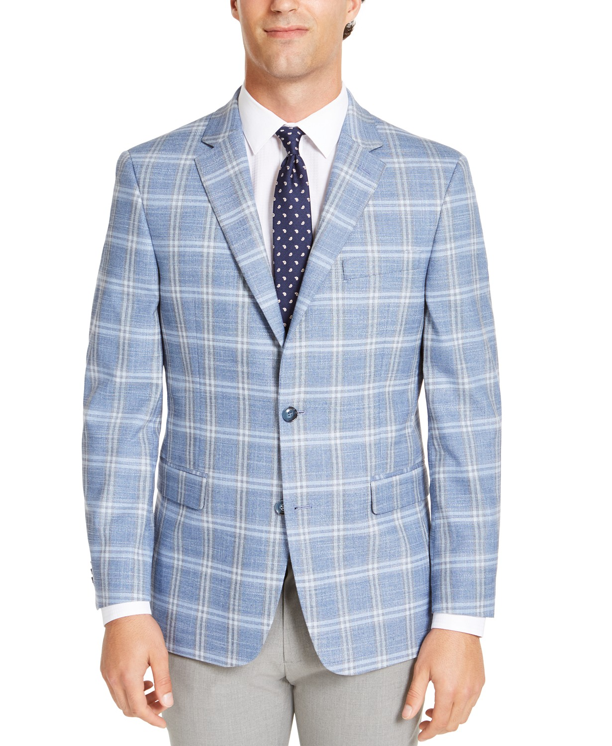 Tommy Hilfiger Men's Modern-Fit THFlex Stretch Windowpane Sport Coat