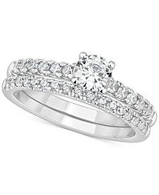 GIA Certified Diamond Bridal Set (1 ct. t.w.) in 14k White Gold