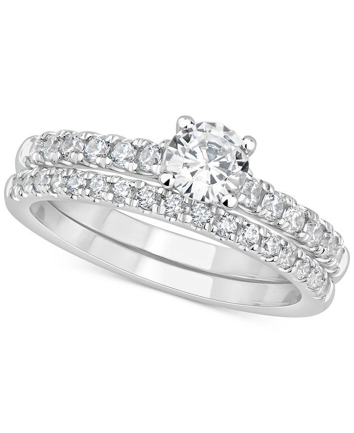 GIA Certified Diamonds - Certified Diamond Bridal Set (1 ct. t.w.) in 14k White Gold