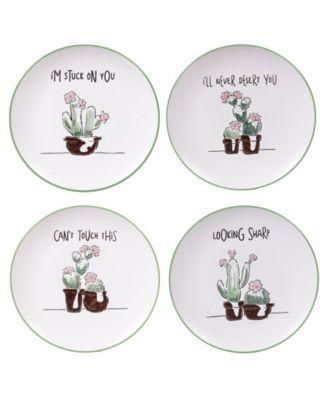 Desert Bloom 4-Pc. Dessert Plates