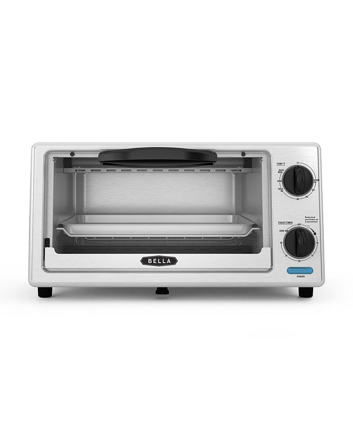 Bella - 4-Slice Stainless Steel Toaster Oven