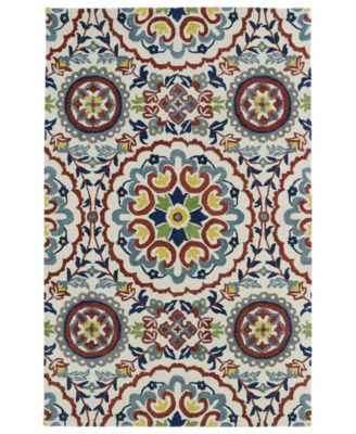 Global Inspirations GLB08-01 Ivory 8' x 10' Area Rug