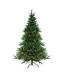 Northlight 7.5' Pre-Lit LED Instant Connect Noble Fir Artificial Christmas Tree - Dual Lights