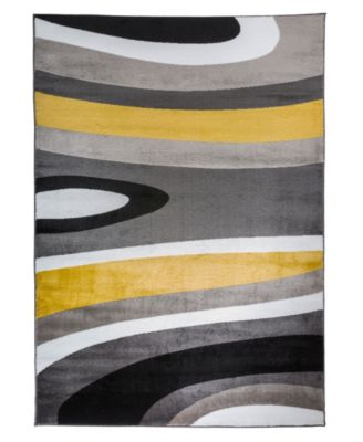 "Montane Mon110 Yellow 3'3"" x 5' Area Rug"
