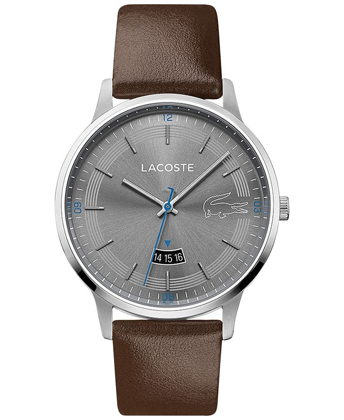 Lacoste - Men's Madrid Brown Leather Strap Watch 41mm