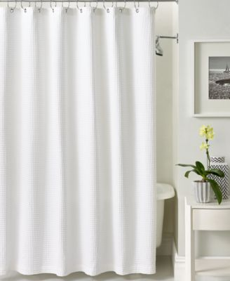 CLOSEOUT! Hotel Collection Bath Accessories, Waffle Shower Curtain, Only at Macy's