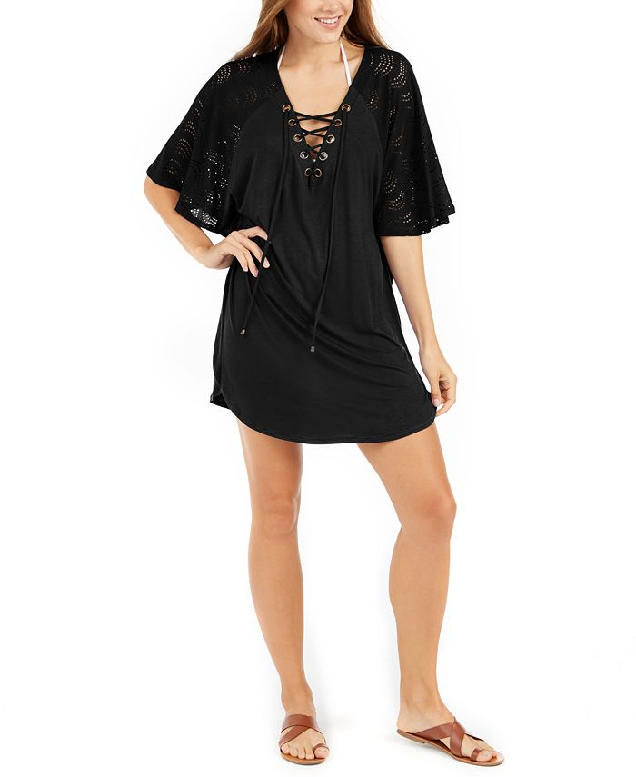 Dotti - Resort Lace-Up Tunic Cover-Up