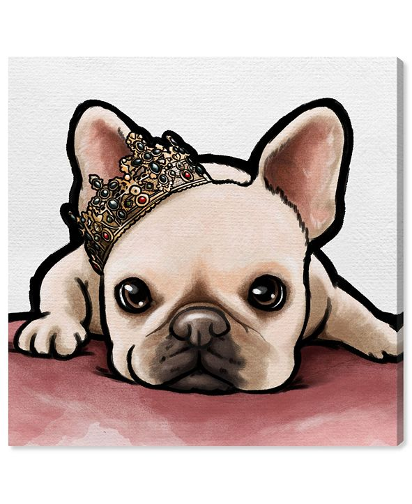 "Oliver Gal Royal Frenchie Canvas Art, 16"" x 16"""