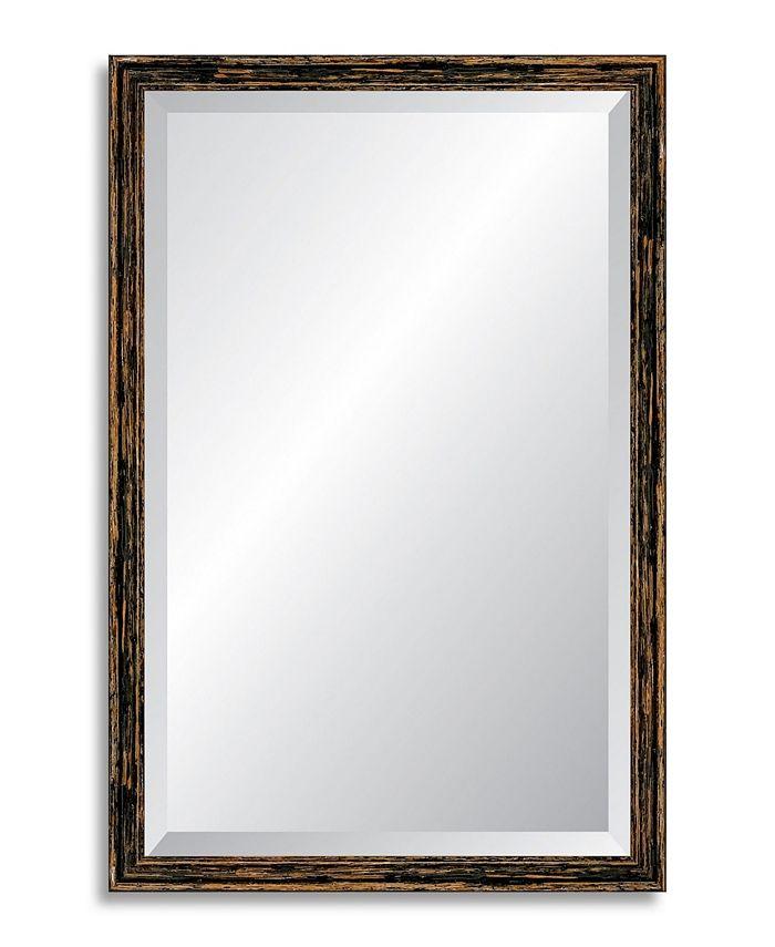 Reveal Frame & Décor - Deep Farmhouse Worn Charcoal Beveled Wall Mirror