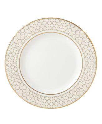 Venetian Lace Gold Salad Plate