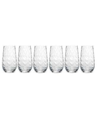 CLOSEOUT! Mikasa Drinkware, Set of 6 Pebblestone Highball Glasses