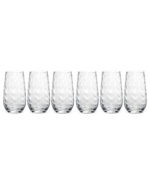 Closeout! Mikasa Drinkware, Set of 6 Pebblestone Highball Glasses