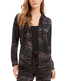 Style & Co French Terry Camo-Print Hoodie, Created for Macy's