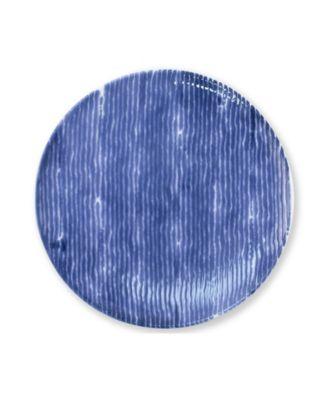 Santorini Stripe Salad Plate