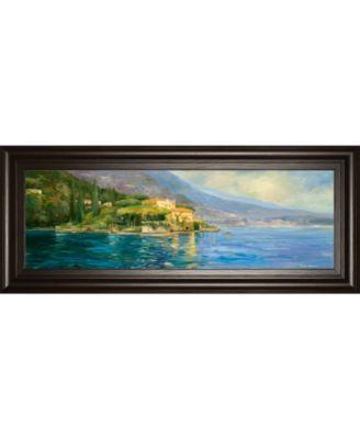 "Scenic Italy IV by Allay Stevens Framed Print Wall Art, 18"" x 42"""