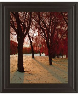 """Autumn Snow II by Alicia Suave Framed Print Wall Art, 22"""" x 26"""""""