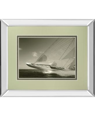 Sea Spray I by Michael Kahn Mirror Framed Print Wall Art - 34