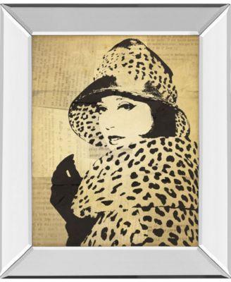 "Fashion News II by Wild Apple Graphics Mirror Framed Print Wall Art, 22"" x 26"""