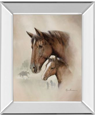 """Race Horse I by Roane Manning Mirror Framed Print Wall Art, 22"""" x 26"""""""