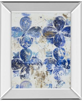 "Blue Quatrefoil III by Patricia Pinto Mirror Framed Print Wall Art, 22"" x 26"""