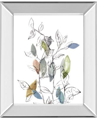 """Spring Leaves I by Meyers, R. Mirror Framed Print Wall Art, 22"""" x 26"""""""