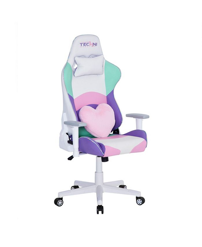 RTA Products - Techni Sport PC Pink Gaming Chair, Quick Ship