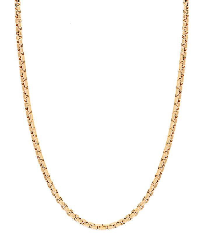 "Macy's - 14K Yellow Gold Diamond Cut 1.5 mm Round Box 22"" Chain"