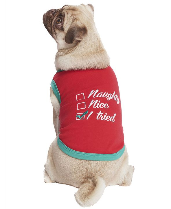 Parisian Pet Naughty Nice I Tried Dog T-Shirt