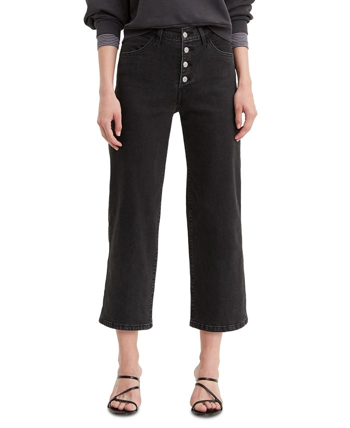 Levi's - Mile High Cropped Button-Fly Jeans