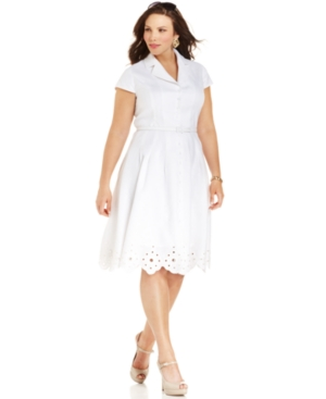 Buy macys & suits - Jones New York Plus Size Dress, Short-Sleeve Shirt Dress