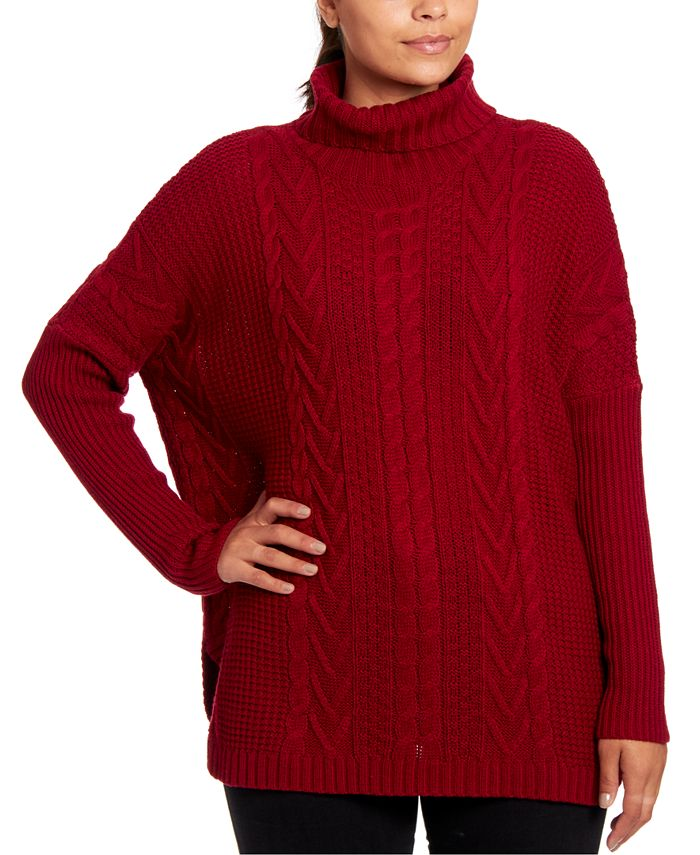 Joseph A - Cable-Knit Turtleneck Sweater