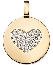 CHARMBAR Swarovski Zirconia Heart Charm Pendant in 14k Gold-Plated Sterling Silver